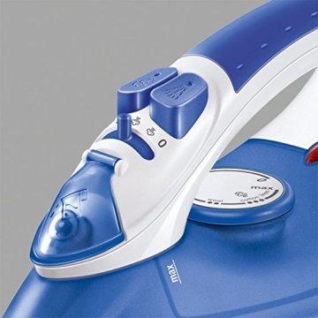 AEG DB 1350-2 Dampfbügeleisen (2100 Watt, Kratzfeste INOX Bügelsohle) blau -