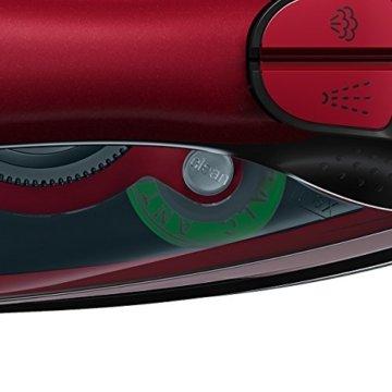 Bosch TDA503001P Dampfbügeleisen Sensixx'x EditionRosso (3000 Watt max., Dampfstoß 200 g/min., Dampfleistung 45 g/min., CeraniumGlissée Bügelsohle) rot -