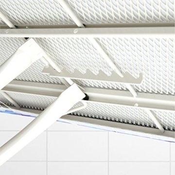 Brabantia 321962 Bügeltisch 124x45, Dampfstationsablage, Bezug ice water, Rohrdurchmesser 25 mm, Gestell ivory -