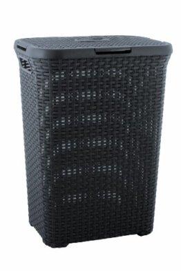 Curver 00707-308-01 Wäschebox Style, 60 L, anthrazit -