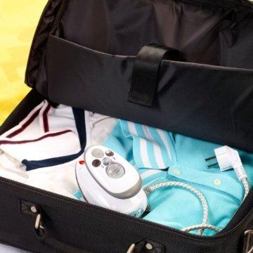 Sichler Haushaltsgeräte Reise-Dampfbügeleisen für Reise & Urlaub, 230 V & 110 V -