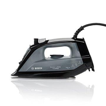 Bosch TDA102401C Dampfbügeleisen (2400 Watt max, extralanges 3m Kabel, Dampfstoß 140g/min, Extra-Dampf 35 g/min) schwarz/telegrau -
