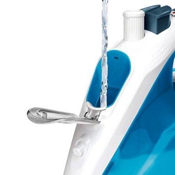 Bosch TDA1024210 Dampfbügeleisen Sensixx'x DA10 Sensor Secure (2400 Watt max., Dampfstoß 140 g/min., Extra-Dampf 35 g/min., PalladiumGlissee Bügelsohle, menge) magic night blau/eisblau -