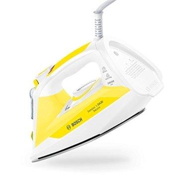 Bosch TDA3024140 Dampfbügeleisen Sensixx'x DA30 Secure max, Abschaltautomatik, Dampfstoßmenge, 150 g, 2400 W, weiß / gelb -