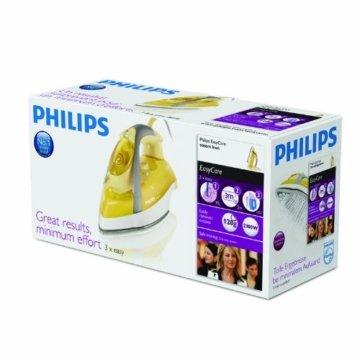 Philips GC3335/02 Elegance Dampfbügeleisen (SteamGlide-Bügelsohle, 120g Dampfstoß), gelb -