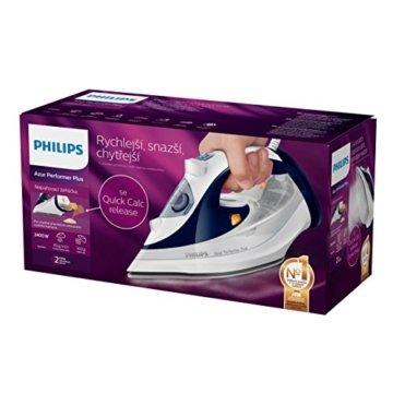 Philips GC4501/20 Azur Performer Plus Dampfbügeleisen SteamGlide mit Bügelsohle, violett/weiß -
