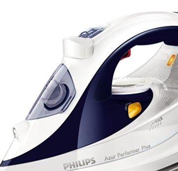 Philips GC4506/20 Azur Performer Plus Dampfbügeleisen, 2400 W, weiß/blau -