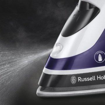 Russell Hobbs Auto Steam Pro Keramik 18681-56 Dampfbügeleisen weiß / lila -
