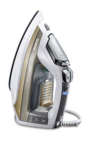 Siemens TB603010 Dampfbügeleisen iQ500 perfectSelect, 3000 W maximal, Start-Stop Control, Titanium Glissee Bügelsohle, Dampfstoßmenge 220 g, weiß / crystal topaz -