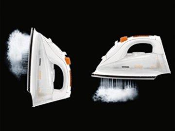 Siemens TB76XTRMW Dampfbügeleisen extremePower Sensor Secure, weiß/coral-orange -