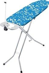 Vileda Viva Express Eco Bügeltisch blau - 120x38 cm große, dampfdurchlässige Bügelfläche - Anti-Rutsch-Füße für mehr Halt auf glatten Böden -
