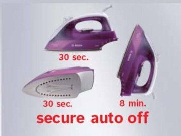 Bosch TDA2630 Dampfbügeleisen Sensixx B1 Secure (2100 Watt max., Dampfstoß 80 g/min., Dampfleistung 25 g/min.) weiß/deep berry -