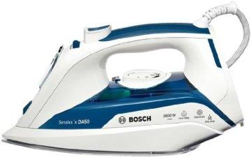 Bosch TDA5028010 Dampfbügeleisen Sensixx'x (2800 Watt max., Dampfstoß 180 g/min., Dampfleistung 45 g/min., CeraniumGlissée Bügelsohle) weiß/blau -