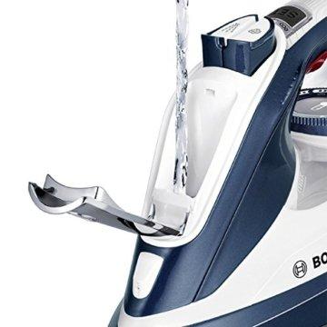 Bosch TDI902836A Kompakt-Dampfgenerator (2800 Watt max., Dampfstoß 200 g/min., Dampfleistung 55 g/min., mit motorunterstützter Dampferzeugung, AntiShine) weiß/magic night blau -