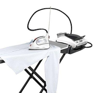 Bosch TDN1710 Aktiv-Bügeltisch für alle Dampfstationen und Bügeleisen, Heiz-Absaug-Gebläsefunktion, anthrazit / weiß -