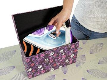 Philips GC2045/35 EasySpeed Plus Dampfbügeleisen (hitzebeständige Aufbewahrungsbox, CalcClean, 2300 W) türkis/violett/weiß -