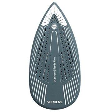 Siemens TB602810 Dampfbügeleisen iQ500 Perfect Select, 2800 W maximal, Start-Stop Control, Titanium Glissee Bügelsohle, Dampfstoßmenge 200 g, weiß / petrol -