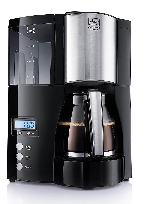 Kaffeemaschine mit Timer und Mahlwerk
