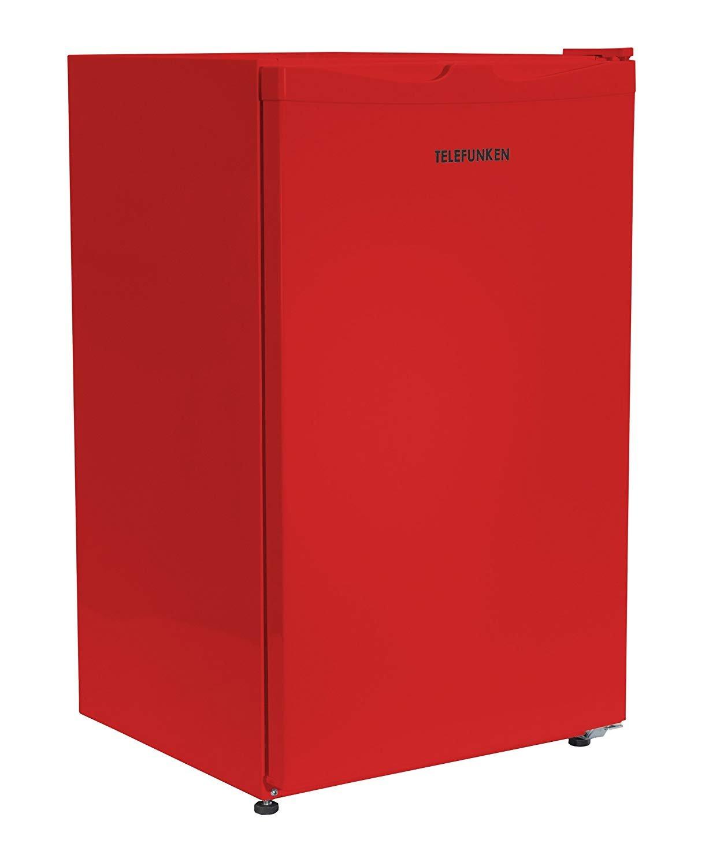 Roter Kühlschrank mit Gefrierfach